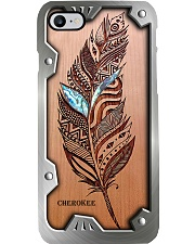 Personalized - Wooden Feather Metal Pattern Print Phone Case i-phone-8-case