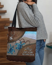 A girl who loves turtles All-over Tote aos-all-over-tote-lifestyle-front-09