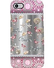 Flamingo Sand Beach Relax Diamond Phone Case i-phone-8-case