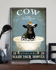 Cow Bath Soap Established Wash Your Hooves  11x17 Poster lifestyle-poster-2