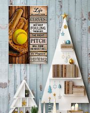 Softball Life Will Always Throw Curves 11x17 Poster lifestyle-holiday-poster-2