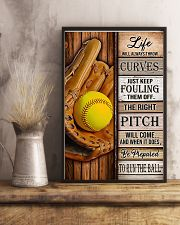 Softball Life Will Always Throw Curves 11x17 Poster lifestyle-poster-3