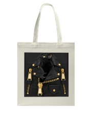 Black Cat - Jacket Leather Tote Bag tile