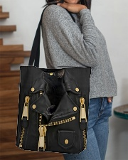 Black Cat - Jacket Leather All-over Tote aos-all-over-tote-lifestyle-front-09