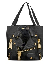 Black Cat - Jacket Leather All-over Tote back