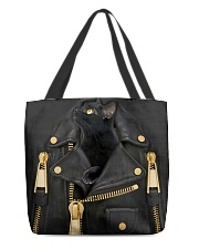 Black Cat - Jacket Leather All-over Tote front