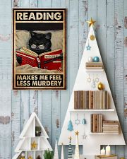 Book - Reading Makes Me Feel Less Murdery 11x17 Poster lifestyle-holiday-poster-2