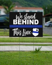 Stand Behind the Thin Blue 24x18 Yard Sign aos-yard-sign-24x18-lifestyle-front-13