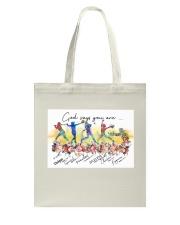 Softball God Says Tote Bag tile