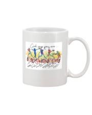 Softball God Says Mug tile