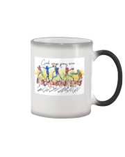 Softball God Says Color Changing Mug tile