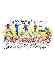 Softball God Says 17x11 Poster front