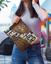 Teacher leather pattern print Accessory Pouch - Large aos-accessory-pouch-12-5x8-5-lifestyle-front-01