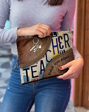 Teacher leather pattern print Accessory Pouch - Large aos-accessory-pouch-12-5x8-5-lifestyle-front-02