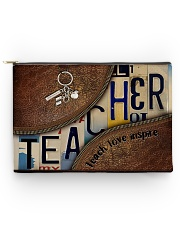 Teacher leather pattern print Accessory Pouch - Large back