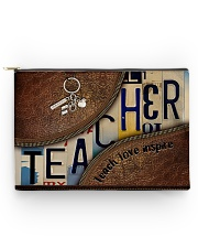 Teacher leather pattern print Accessory Pouch - Large front