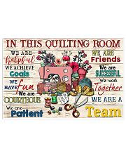 Quilting 17x11 Poster front