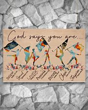 God Says You Are -Color Guard- Horizontal Poster  17x11 Poster poster-landscape-17x11-lifestyle-13