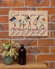God Says You Are -Color Guard- Horizontal Poster  17x11 Poster poster-landscape-17x11-lifestyle-23