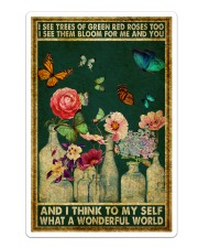 Butterfly And I Think To My Self What A Wonderful  Sticker tile