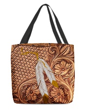 Native American India Feather All-Over Tote tile