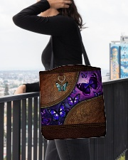 Butterfly leather pattern All-over Tote aos-all-over-tote-lifestyle-front-05