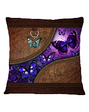 Butterfly leather pattern Square Pillowcase tile
