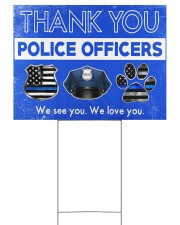 Police Officers 24x18 Yard Sign back