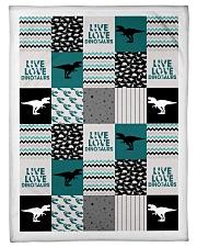 "Live Love Dinosaur Small Fleece Blanket - 30"" x 40"" front"