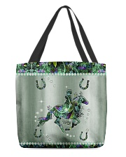 Horse Metal Pattern Print All-Over Tote tile