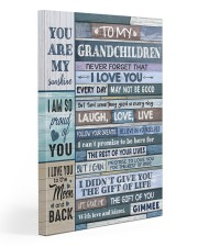 To my Grandchildren Canvas 20x30 Gallery Wrapped Canvas Prints front
