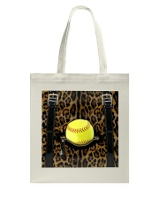 Softball - Leopard - Zip Pocket Tote Bag tile