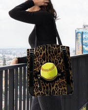 Softball - Leopard - Zip Pocket All-over Tote aos-all-over-tote-lifestyle-front-05