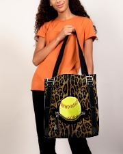 Softball - Leopard - Zip Pocket All-over Tote aos-all-over-tote-lifestyle-front-06