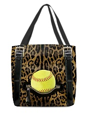 Softball - Leopard - Zip Pocket All-over Tote front
