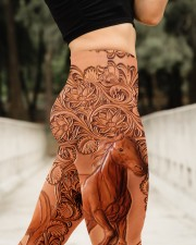 Horse Leather Legging High Waist Leggings aos-high-waist-leggings-lifestyle-11