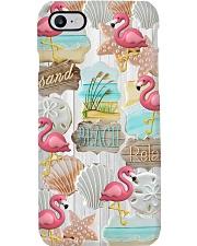 Flamingo - Sand Beach Relax 2 Phone Case i-phone-8-case