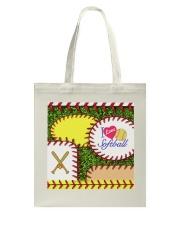 I Love Softball Tote Bag tile