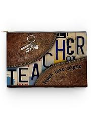 Teacher leather pattern print Accessory Pouch tile