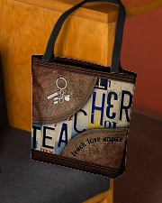 Teacher leather pattern print All-over Tote aos-all-over-tote-lifestyle-front-02