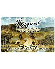 Native American We Are Here To Heal Horizontal Poster tile