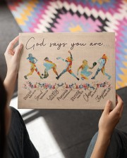 God Says You Are Softball Canvas 14x11 Gallery Wrapped Canvas Prints aos-canvas-pgw-14x11-lifestyle-front-24