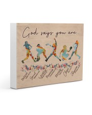 God Says You Are Softball Canvas 14x11 Gallery Wrapped Canvas Prints front