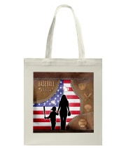 Baseball Mom Leather Effect Printing Canvas Tote A Tote Bag tile