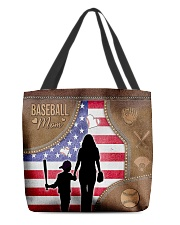 Baseball Mom Leather Effect Printing Canvas Tote A All-over Tote back
