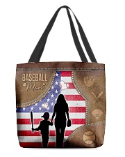 Baseball Mom Leather Effect Printing Canvas Tote A All-over Tote front