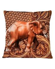Elephant Feather v2 Square Pillowcase tile