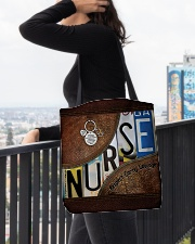 Nurse respect caring courage All-over Tote aos-all-over-tote-lifestyle-front-05