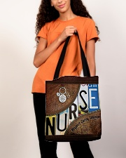 Nurse respect caring courage All-over Tote aos-all-over-tote-lifestyle-front-06