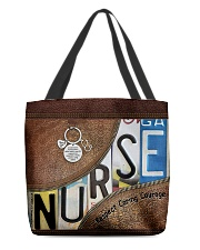 Nurse respect caring courage All-over Tote back